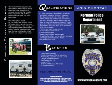 Recruiting Brochure - City of Norman