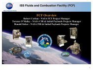 FCF Short Overview Presentation - Space Flight Systems - NASA