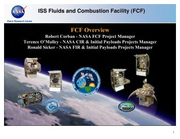 FCF Short Overview Presentation - Space Flight Systems - NASA