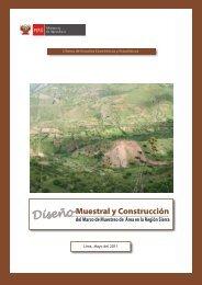 Plan de muestreo de áreas para la región Sierra