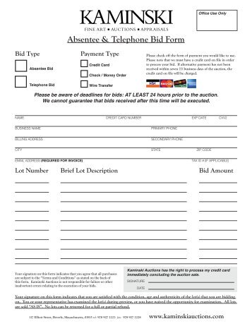 applebys telephone bidding form highly strung