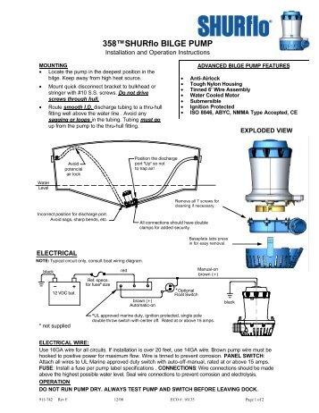 shurflo bilge pumps wiring diagram wiring diagram and schematics rh rivcas org shurflo diaphragm pump wiring diagram Hayward Pool Pump Wiring Diagram