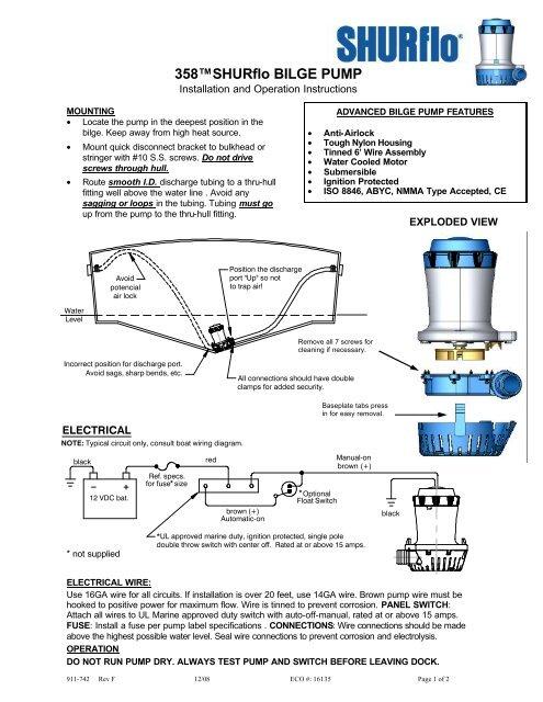 b boat bilge pump 911-742-f_1500 bilge pump 24v 358-100-00 - shurflo on