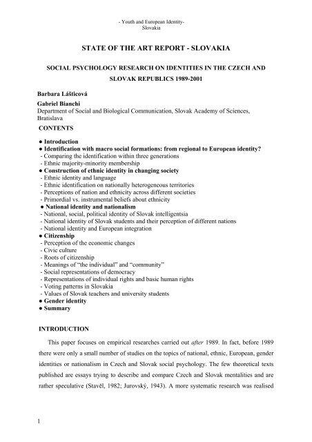 ethnic studies research topics