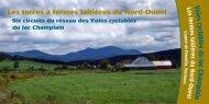Voies cyclables du lac Cham plain - Lake Champlain Bikeways