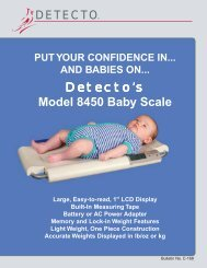 Detecto's Model 8450 Baby Scale - Scaleable Scales