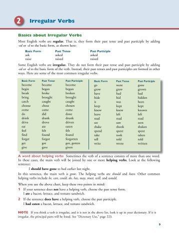 2 Irregular Verbs - Townsend Press