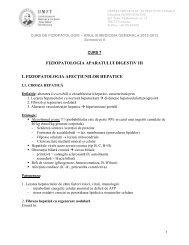 FIZIOPATOLOGIA APARATULUI DIGESTIV III I ... - Fiziopatologie
