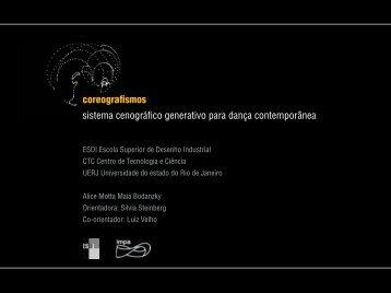 coreografismos sistema cenográfico generativo para ... - Visgraf - Impa
