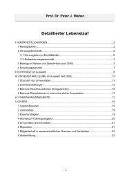 Prof. Dr. Peter J. Weber - SRH Hochschule für Wirtschaft und ...