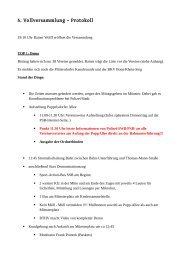 2012-10-29 Protokoll 5 Vollversammlung - Pro Sportstadt Bonn