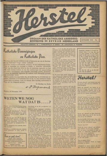 Herstel (1944) nr. 1 - Vakbeweging in de oorlog