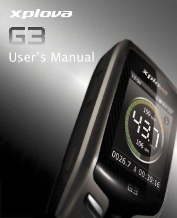 User's Manual - Xplova