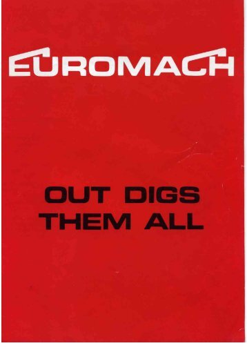 PDF of the Euromach Jolly sales brochure - Diggers-dumpers-plant ...