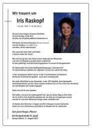 Nachruf Iris Raskopf - Katholische Pfarrgemeinde St. Josef - Kamp ...
