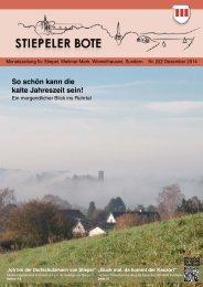 Stiepeler Bote 222 - Dezember 2014