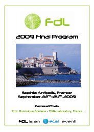 2009 Final Program - Hartenstein