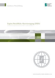 Experte Betriebliche Altersversorgung (DMA) - Deutsche Makler ...