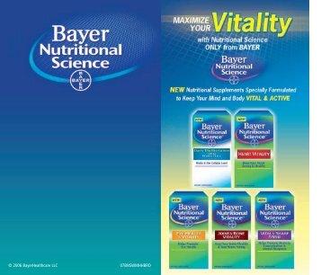 © 2006 BayerHealthcare LLC 07BNSWMHHBRO - In Stores Now