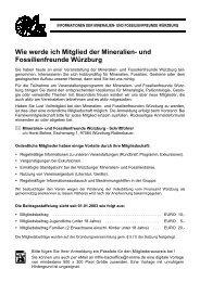 Wie werde ich Mitglied der Mineralien- und ... - Ralf Scheinpflug