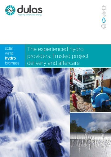 The experienced hydro providers: Trusted project delivery ... - Dulas