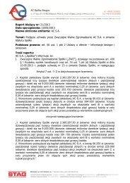 Raport bieżący nr: 21/2013 Data sporządzenia: 10/05/2013 Nazwa ...