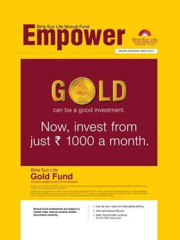 Empower for the Month of March 2012 - Birla Sun Life Mutual Fund