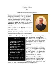 Woodrow Wilson - The Nobel Peace Laureate Project