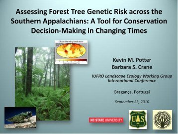 Assessing Forest Tree Genetic Risk across the Southern