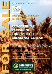 processing & packaging equipment for breakfast cereal processing