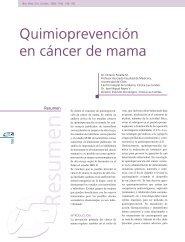 Quimioprevención en cáncer de mama
