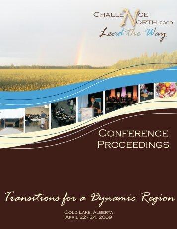 Transitions for a Dynamic Region - Northern Alberta Development ...