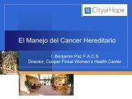 consejo genético y cirugía profiláctica en cáncer hereditario de mama