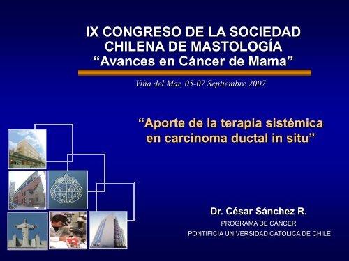 aporte de la terapia sistémica en carcinoma ductal in situ - Sociedad ...