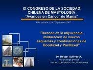 Taxanos en la adyuvancia - Sociedad Chilena de Mastología