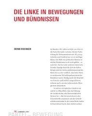 partei – bewegung die linke in bewegungen - Zeitschrift Luxemburg