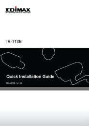 IR-113E Quick Installation Guide - Edimax