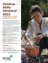 Outdoor Skills Weekend 2012 - Girl Scouts San Diego
