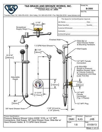 B-3505 - Specification - T&S Brass