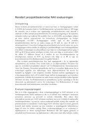 Revidert prosjektbeskrivelse NAV-evalueringen - Rokkansenteret