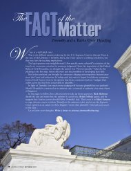 The Fact of the Matter/Special Focus Introduction - Lawyers