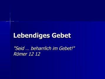 Lebendiges Gebet - EFG Hemsbach