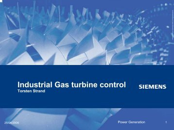 Gas turbine control Torsten Strand