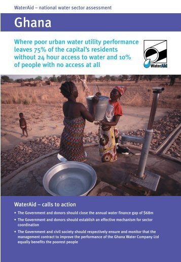 National Water Sector Assessment in Ghana - WaterAid