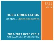 Hcec orientation - Cornell Career Services