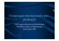 Cooperação internacional e pós- graduação - Epi2008