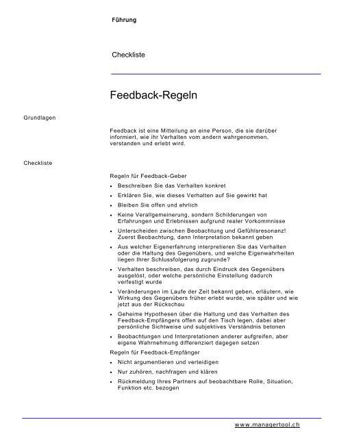 9eb59d2ccc Feedback-Regeln - E-hr.ch