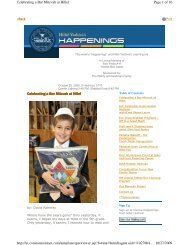 Celebrating a Bar Mitzvah at Hillel Page 1 of 16 Celebrating a Bar ...