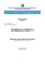 Documento 15 maggio classe V C Liceo Scientifico