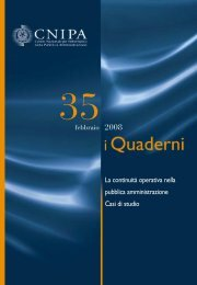 La continuità operativa nella pubblica ... - Archivio CNIPA
